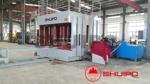 Hydraulic dished head configuring machine