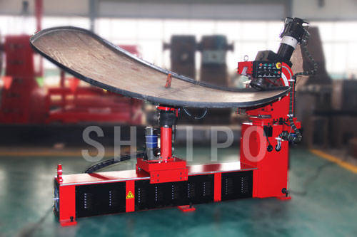 Automatic irregular dished head flanging