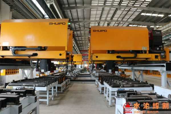 New type of girder welding production line
