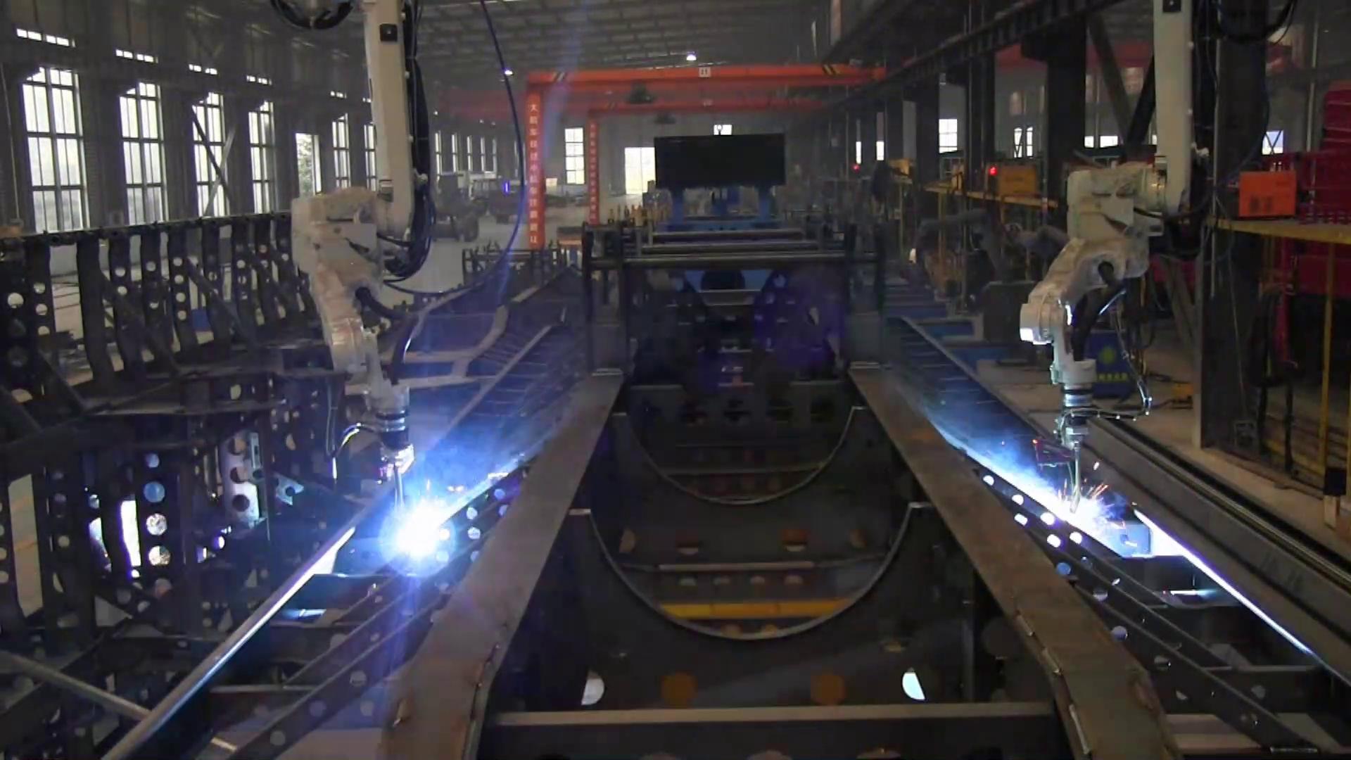 The frame welding robot