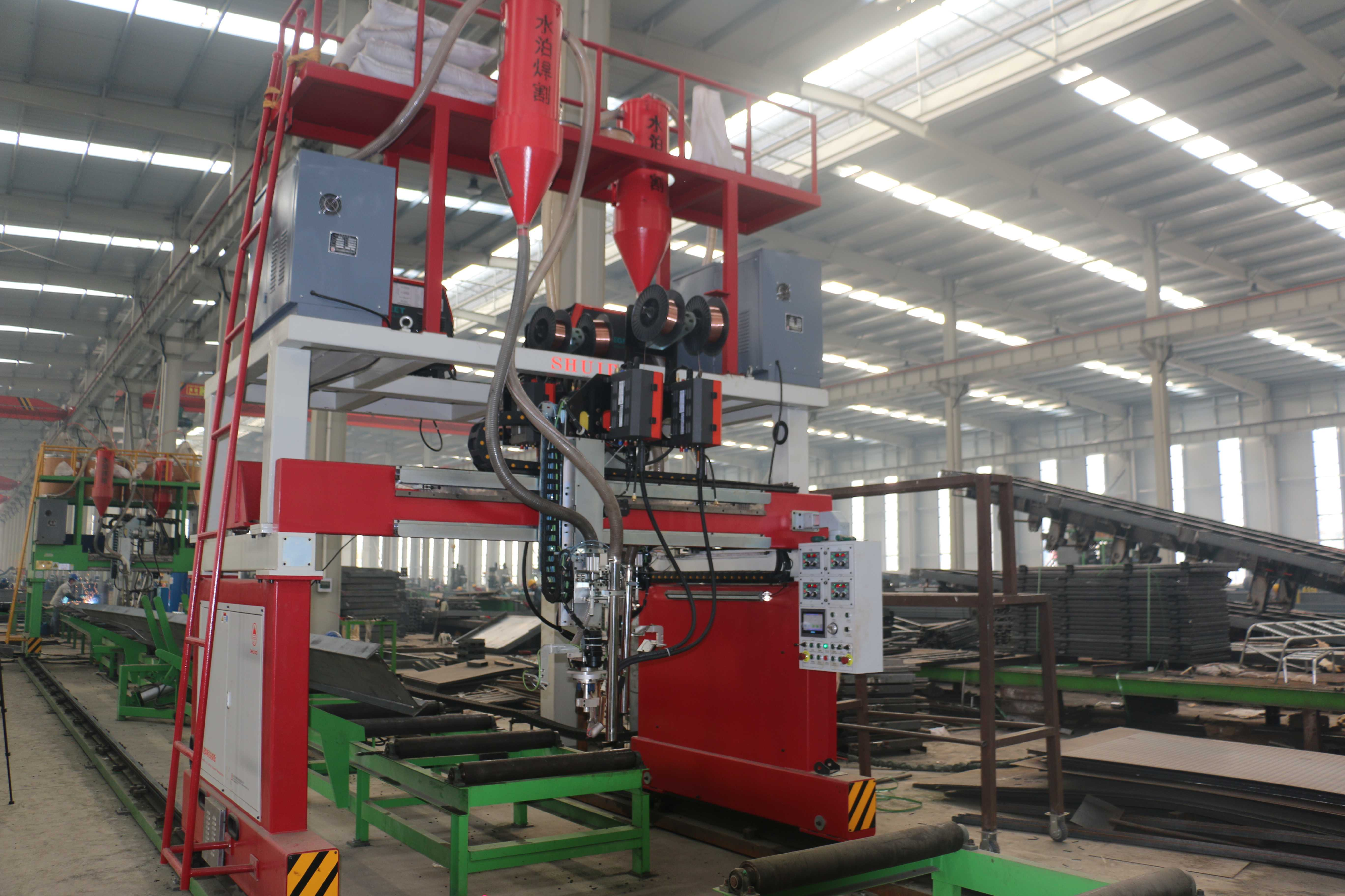 the laser tracking double wire gantry welding machine