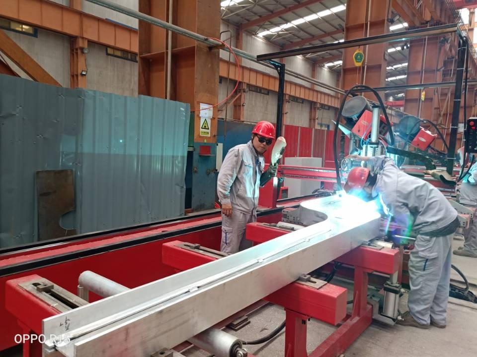 Aluminum alloy truss/T beam welding machine